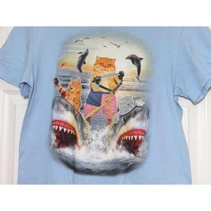 FIFTH SUN GRAPHIC T SHIRT Mens Size M Cat Surfing